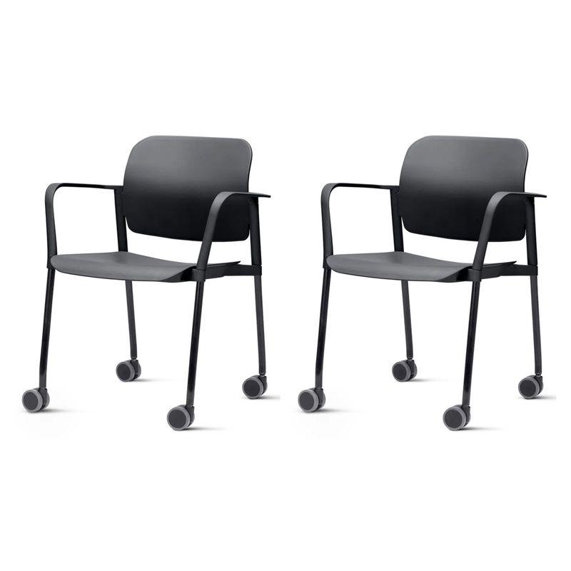 Kit-2-Cadeiras-Leaf-com-Bracos-Base-Rodizio-Preta---57388