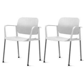 Kit-2-Cadeiras-Leaf-com-Bracos-Assento-Branco-Base-Cromada---57392