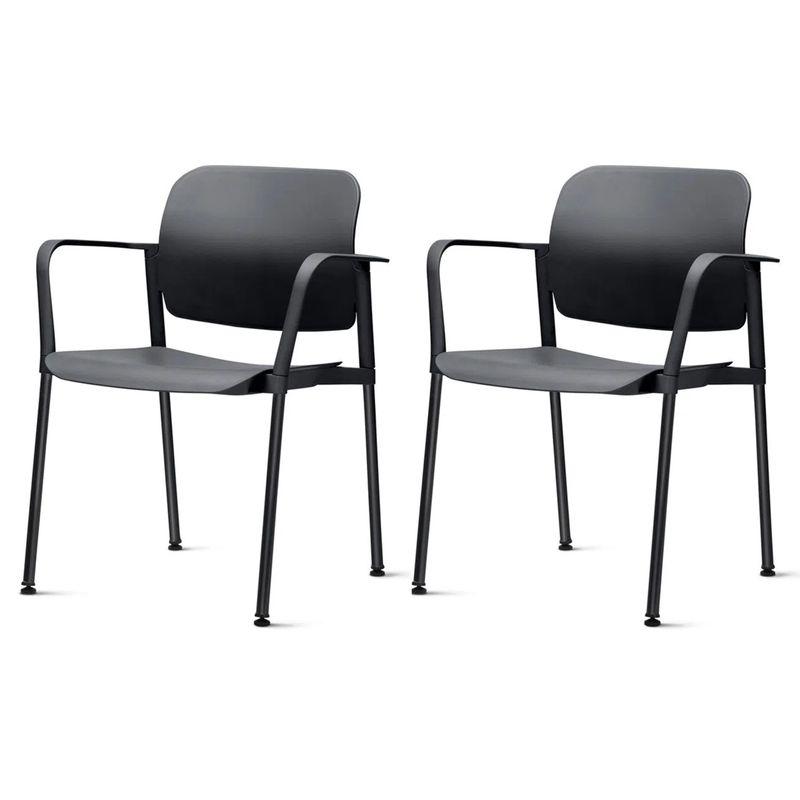 Kit-2-Cadeiras-Leaf-com-Bracos-Preta---57395