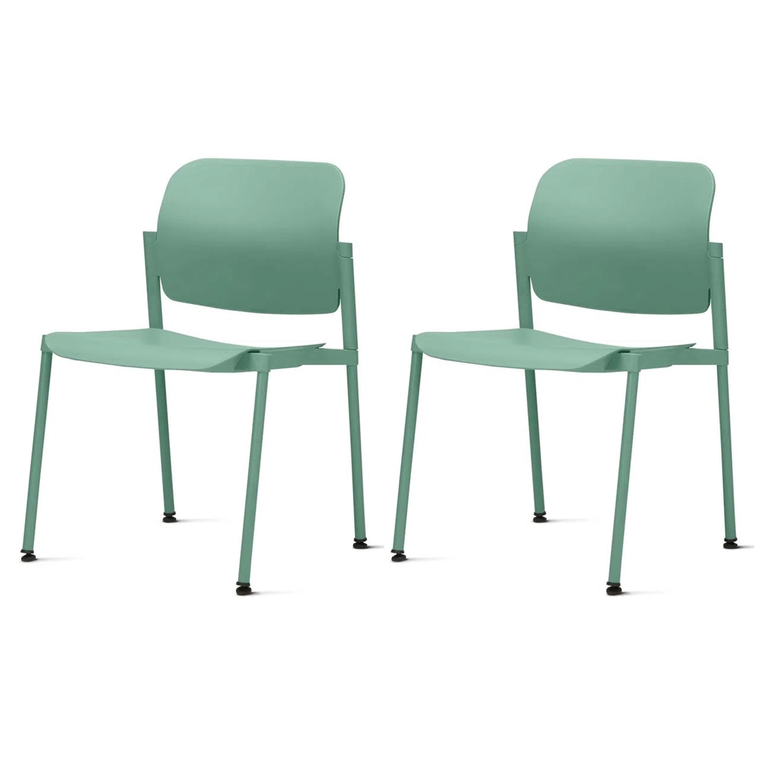 Kit 2 Cadeiras Leaf Verde - 57397