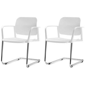 Kit-2-Cadeiras-Leaf-com-Bracos-Assento-Branco-Base-Fixa-Cromada---57403