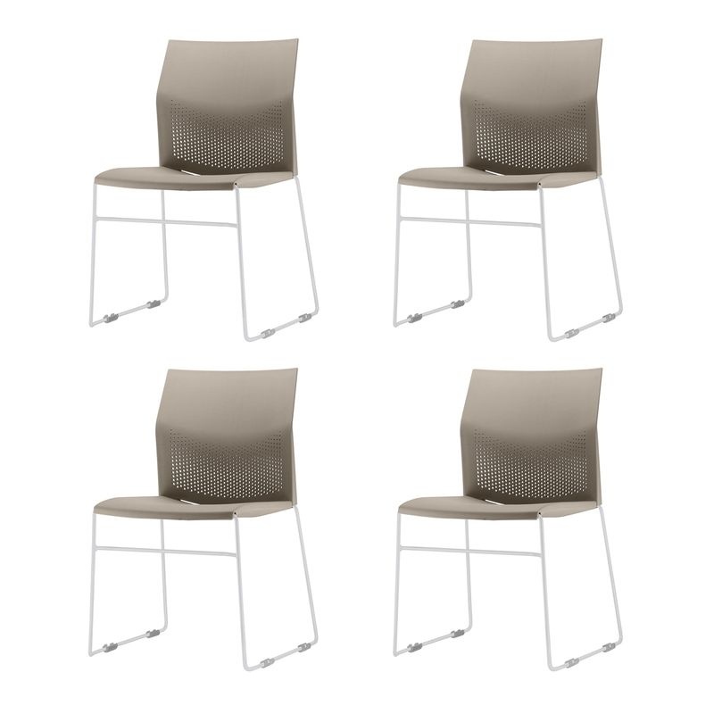 Kit-4-Cadeiras-Connect-Assento-Bege-Base-Fixa-Cinza---57589