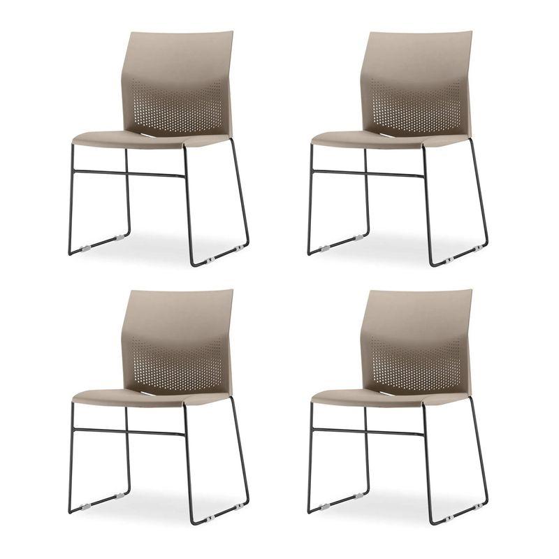 Kit-4-Cadeiras-Connect-Assento-Bege-Base-Fixa-Preta---57591