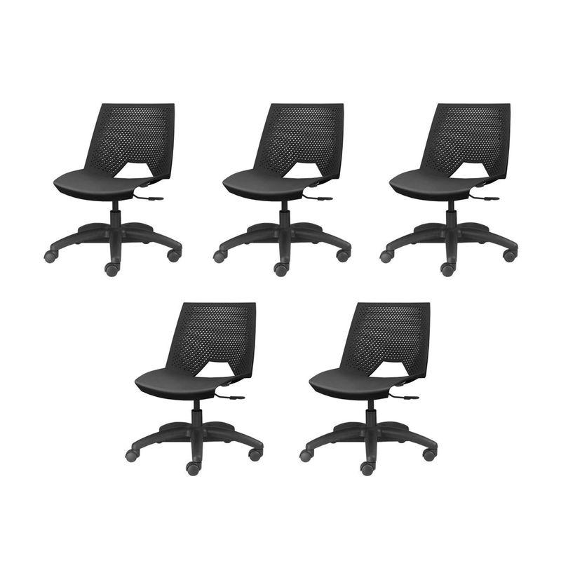 Kit-5-Cadeiras-Strike-Base-Rodizio-Preta---57636-