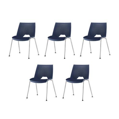 Kit-5-Cadeiras-Strike-Assento-Azul-Base-Cromada---57639