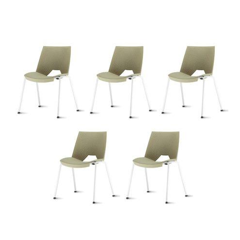 Kit-5-Cadeiras-Strike-Assento-Bege-Base-Cinza---57640