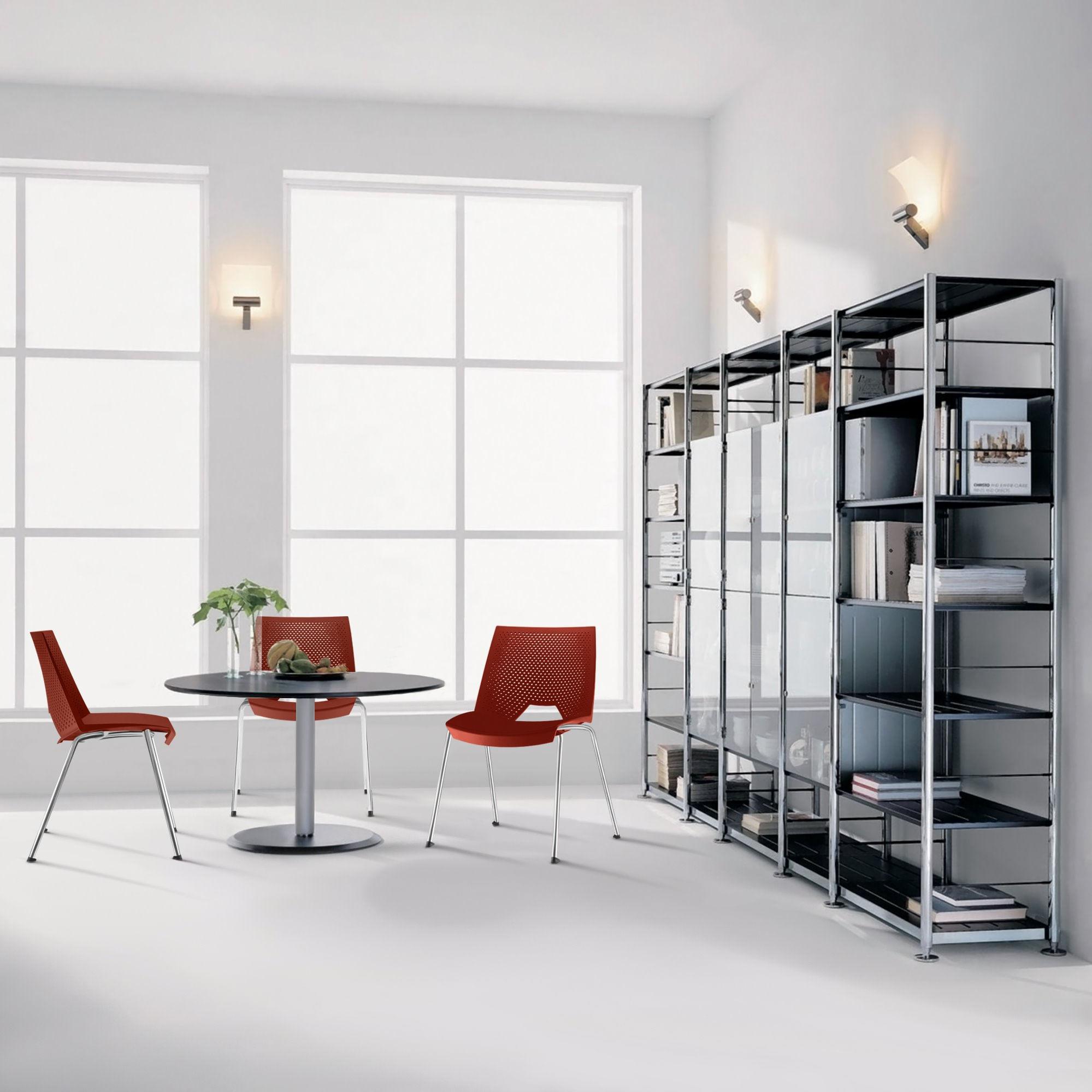 Kit 5 Cadeiras Strike Assento Branco Base Cromada - 57643