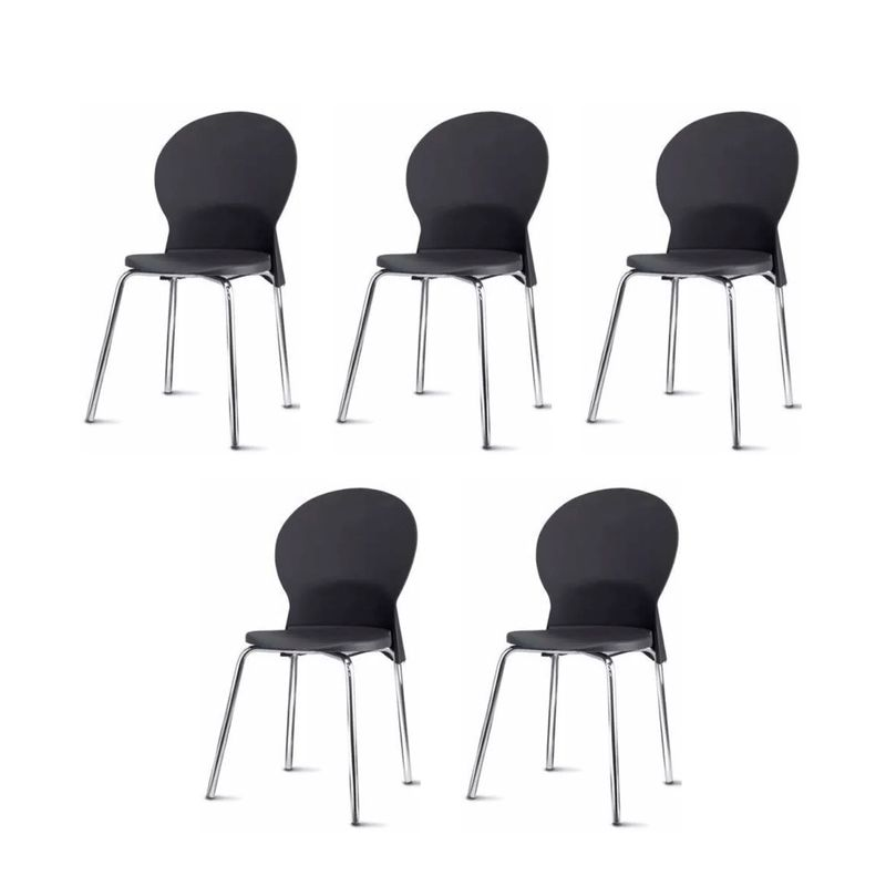Kit-5-Cadeiras-Luna-Assento-Preto-Base-Cromada---57704