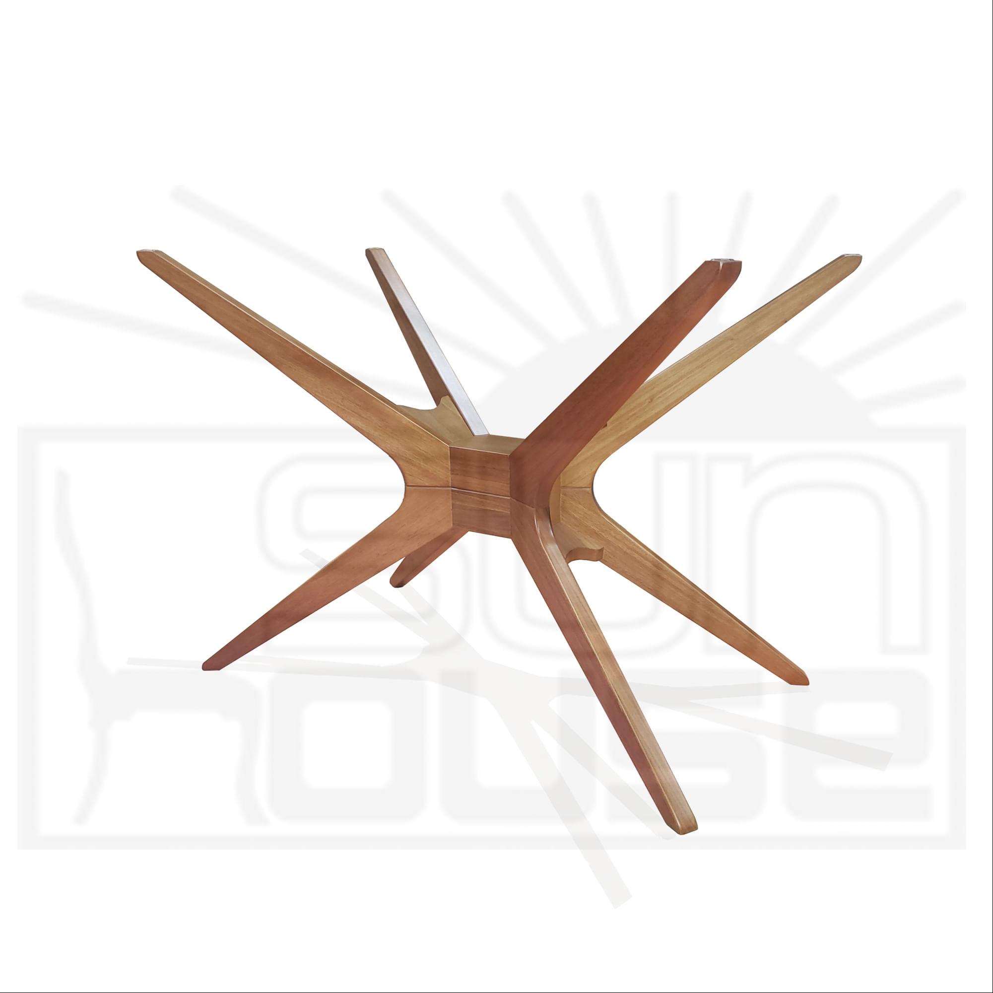 Base Mesa de Jantar Quadrada XS cor Amendoa 72 cm (LARG) - 46444