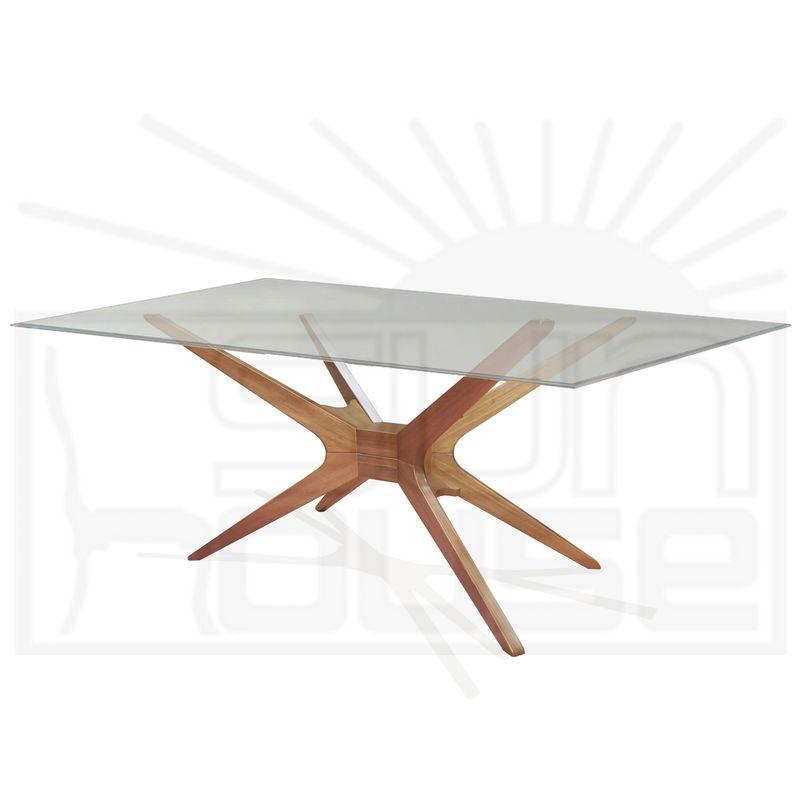 Mesa-de-Jantar-XS-com-Tampo-de-Vidro-Retangular-Base-Amendoa-200-MT--LARG----57790
