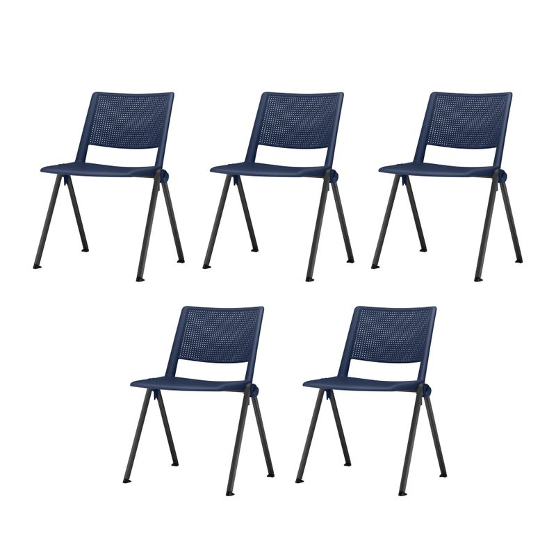 Kit-5-Cadeiras-Up-Assento-Azul-Base-Fixa-Preta---57804