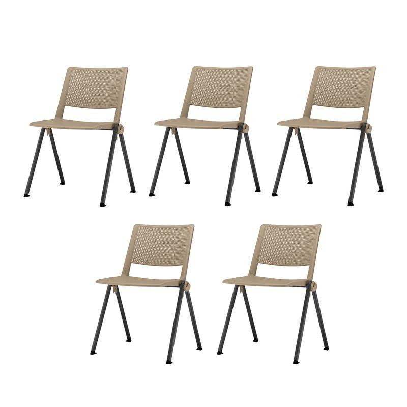Kit-5-Cadeiras-Up-Assento-Bege-Base-Fixa-Preta---57809-
