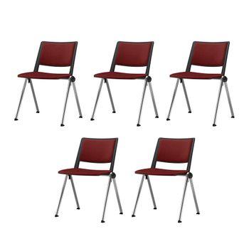 Kit-5-Cadeiras-Up-Assento-Estofado-Vermelho-Base-Fixa-Cromada---57824