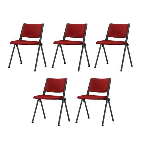 Kit-5-Cadeiras-Up-Assento-Estofado-Vermelho-Base-Fixa-Preta---57825