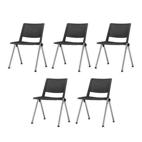 Kit-5-Cadeiras-Up-Assento-Preto-Base-Fixa-Cinza---57831