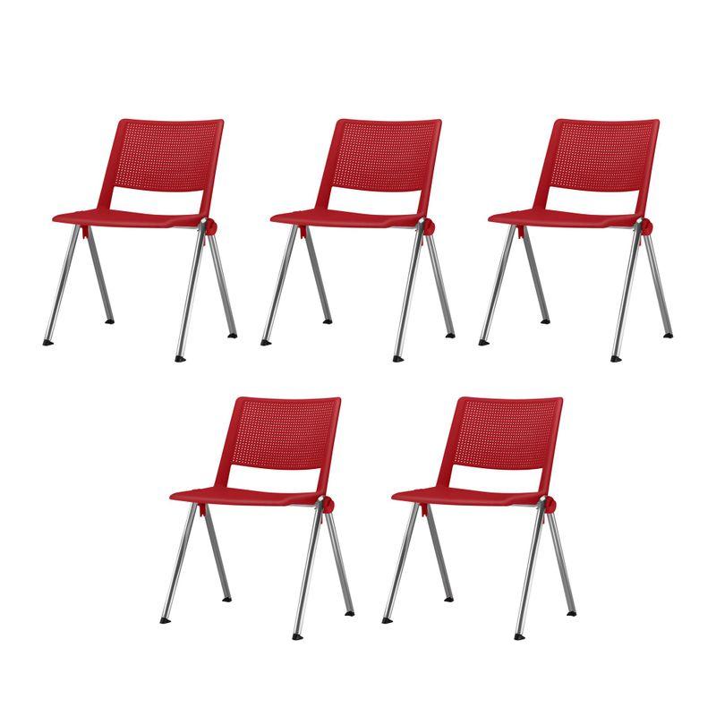 Kit-5-Cadeiras-Up-Assento-Vermelho-Base-Fixa-Cromada---57837