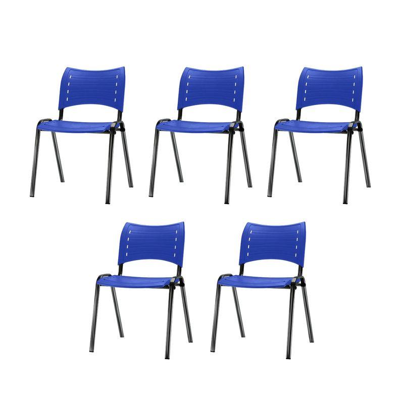 Kit-5-Cadeiras-Iso-Assento-Azul-Base-Preta---57928