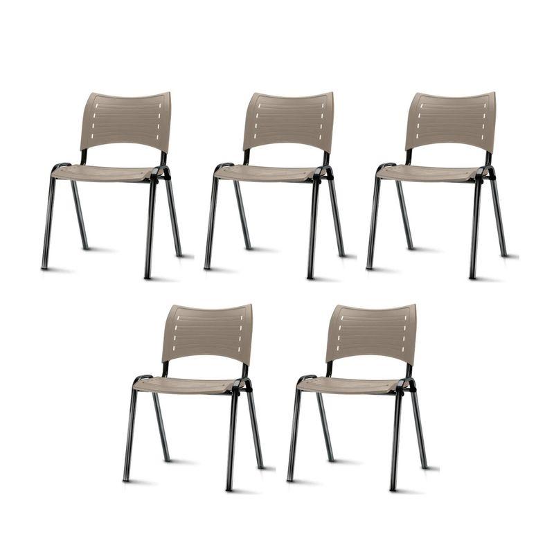 Kit-5-Cadeiras-Iso-Assento-Bege-Base-Preta---57929-