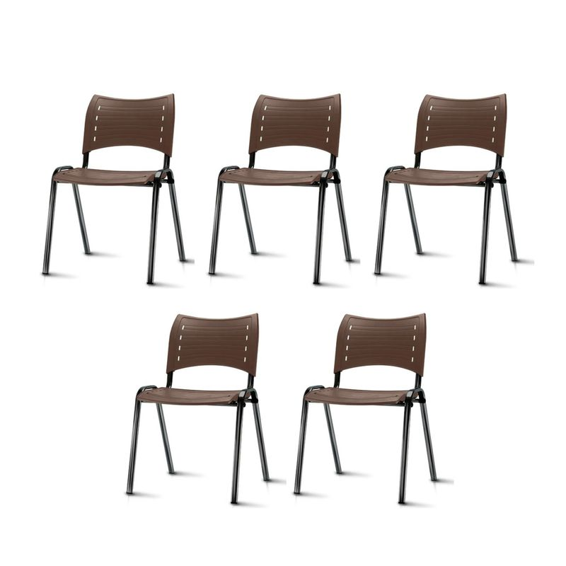 Kit-5-Cadeiras-Iso-Assento-Marrom-Base-Preta---57933-