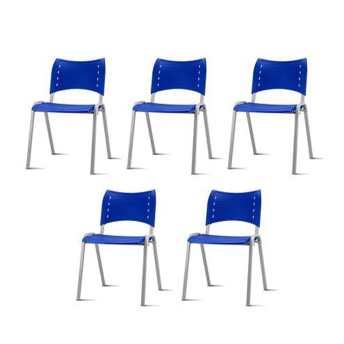 Kit-5-Cadeiras-Iso-Assento-Azul-Base-Cinza---57937