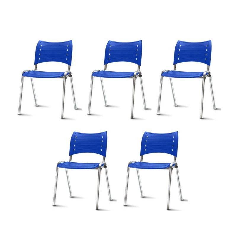 Kit-5-Cadeiras-Iso-Assento-Azul-Base-Cromada---57938