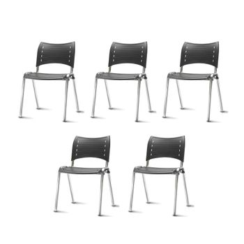 Kit-5-Cadeiras-Iso-Assento-Preto-Base-Cromada---57941-