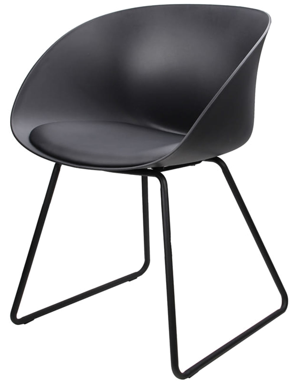 Cadeira Dandy Preta com Base Preta - 58165