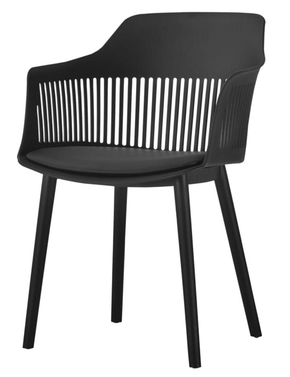Cadeira Leslie Polipropileno Preta - 58280
