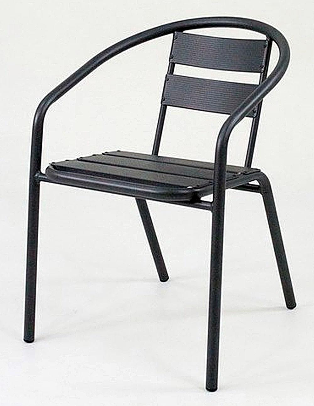 Cadeira Fun em Aluminio Preta - 58399