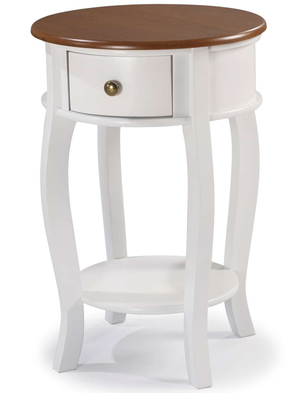 Mesa Apoio Elegance Branco Com Imbuia 50cm (Larg) - 58856