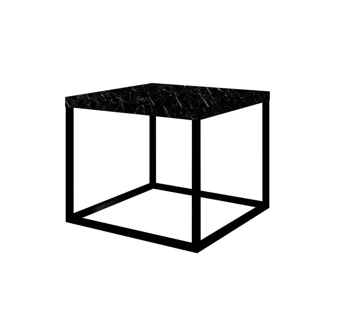 Mesa Centro Cube Preta Base Preta 0,32 (ALT) - 58945