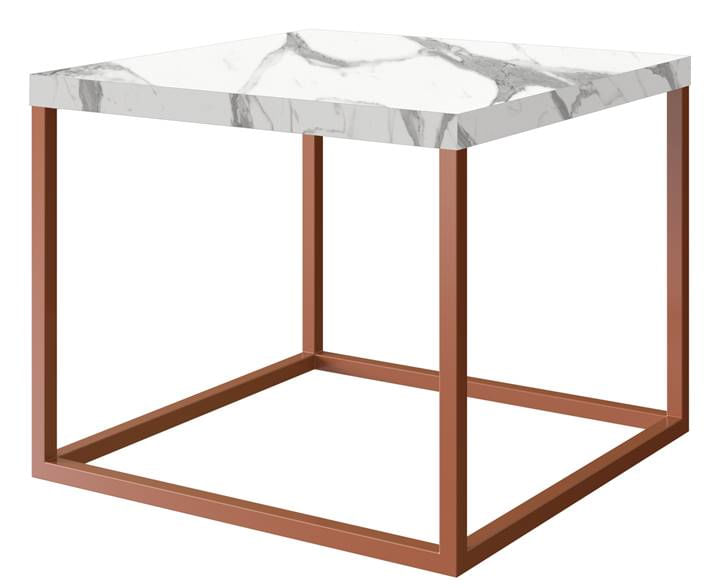 Mesa Centro Cube Thassos Aco Cobre 0,32 cm (ALT) - 58953