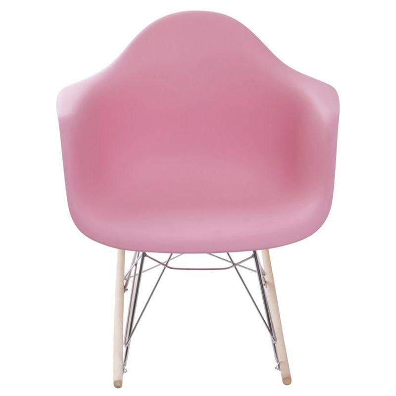 Cadeira Eames com Braco Base Balanco Rosa - 59131