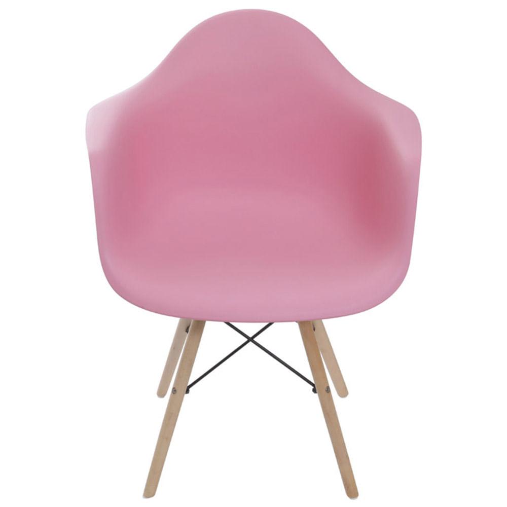 Cadeira Eames com Braco Base Madeira Rosa - 59141