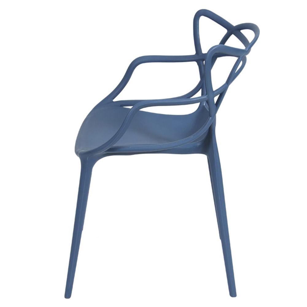 Cadeira Master Allegra Polipropileno Azul Petroleo - 47216