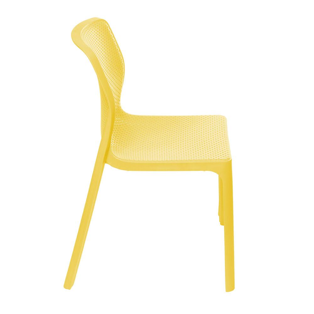 Cadeira Bit Nard Empilhavel Polipropileno Amarela - 53559