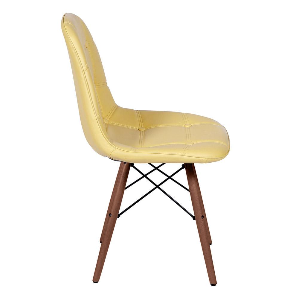 Cadeira Eames Botone Amarela Base Escura - 44876