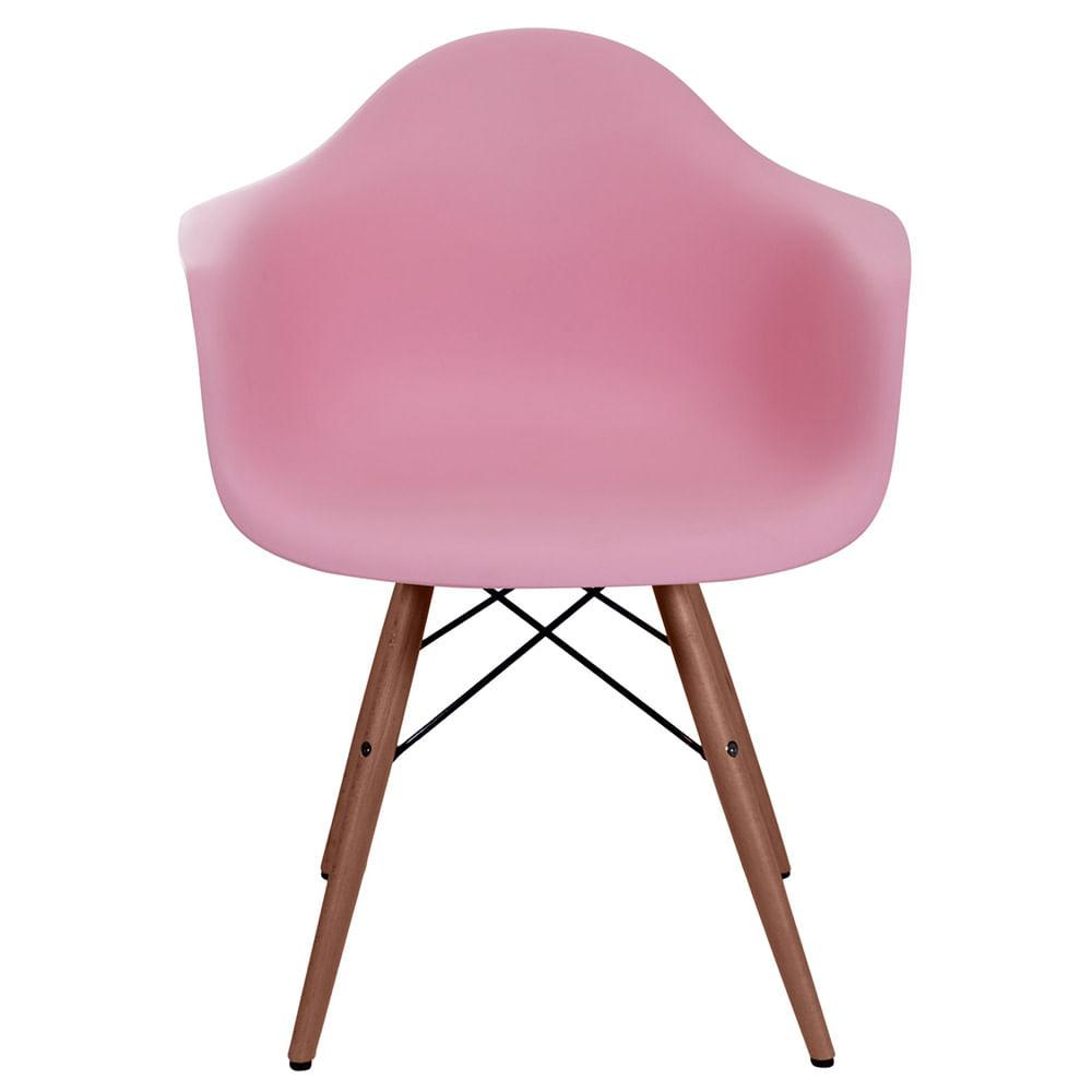 Cadeira Eames com Braco Base Escura Rosa - 59223