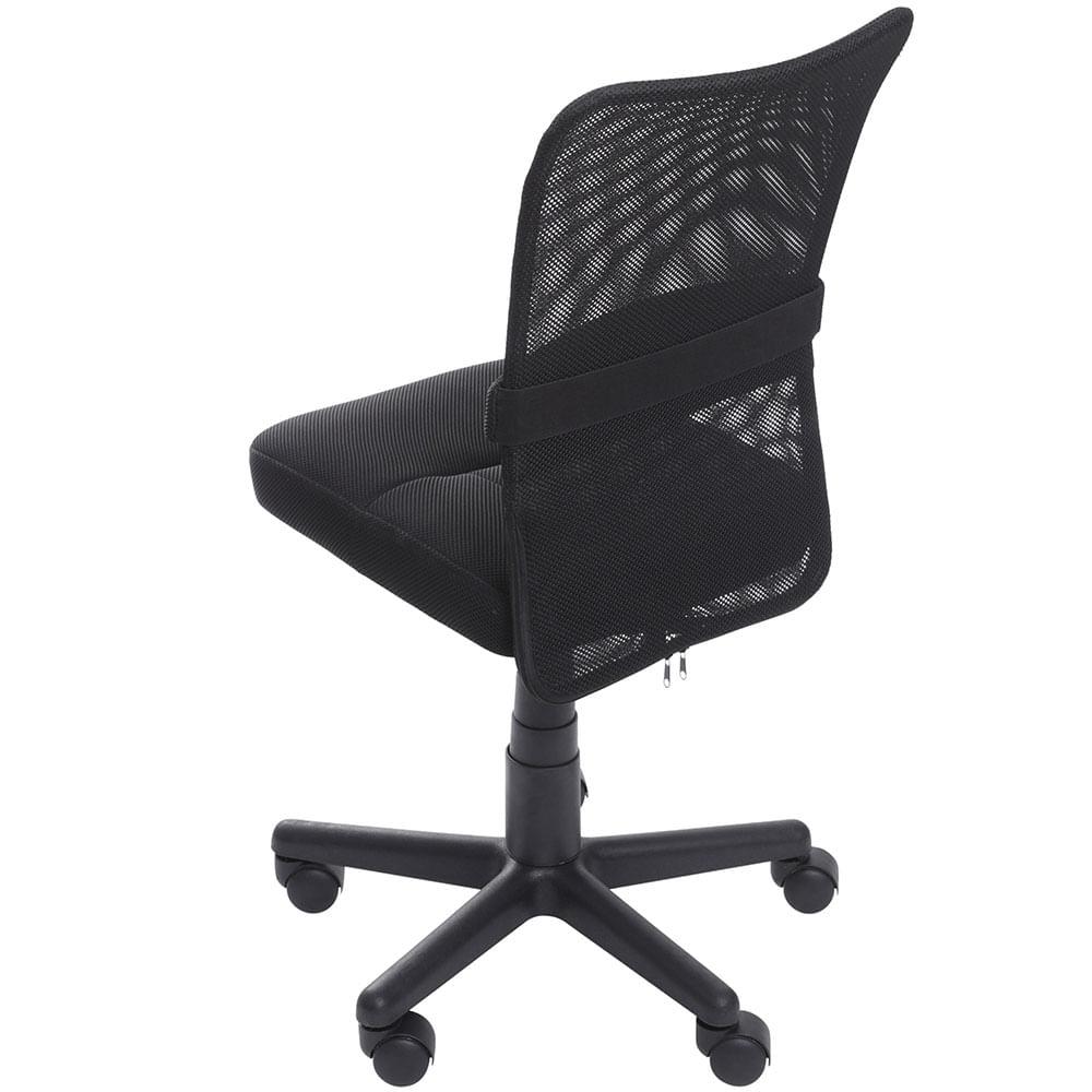 Cadeira Office Rover Sem Bracos em Tela Preta com Base Nylon - 59259