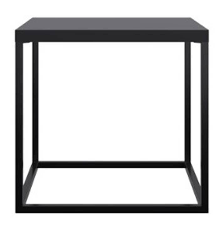 Mesa Centro Cube Preto Aco Preto 38cm - 59291