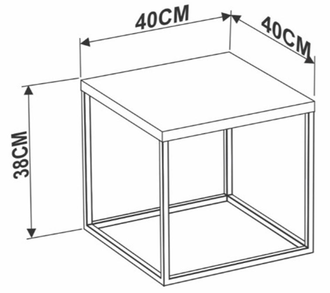 Mesa Centro Cube Vermont Estrutura Cobre 38cm - 59294