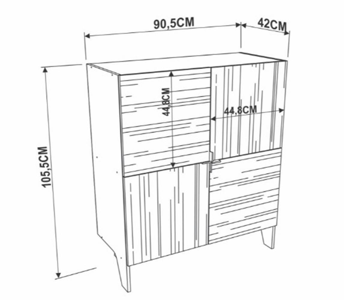 Buffet Adega Lana Vermont 105cm - 41646