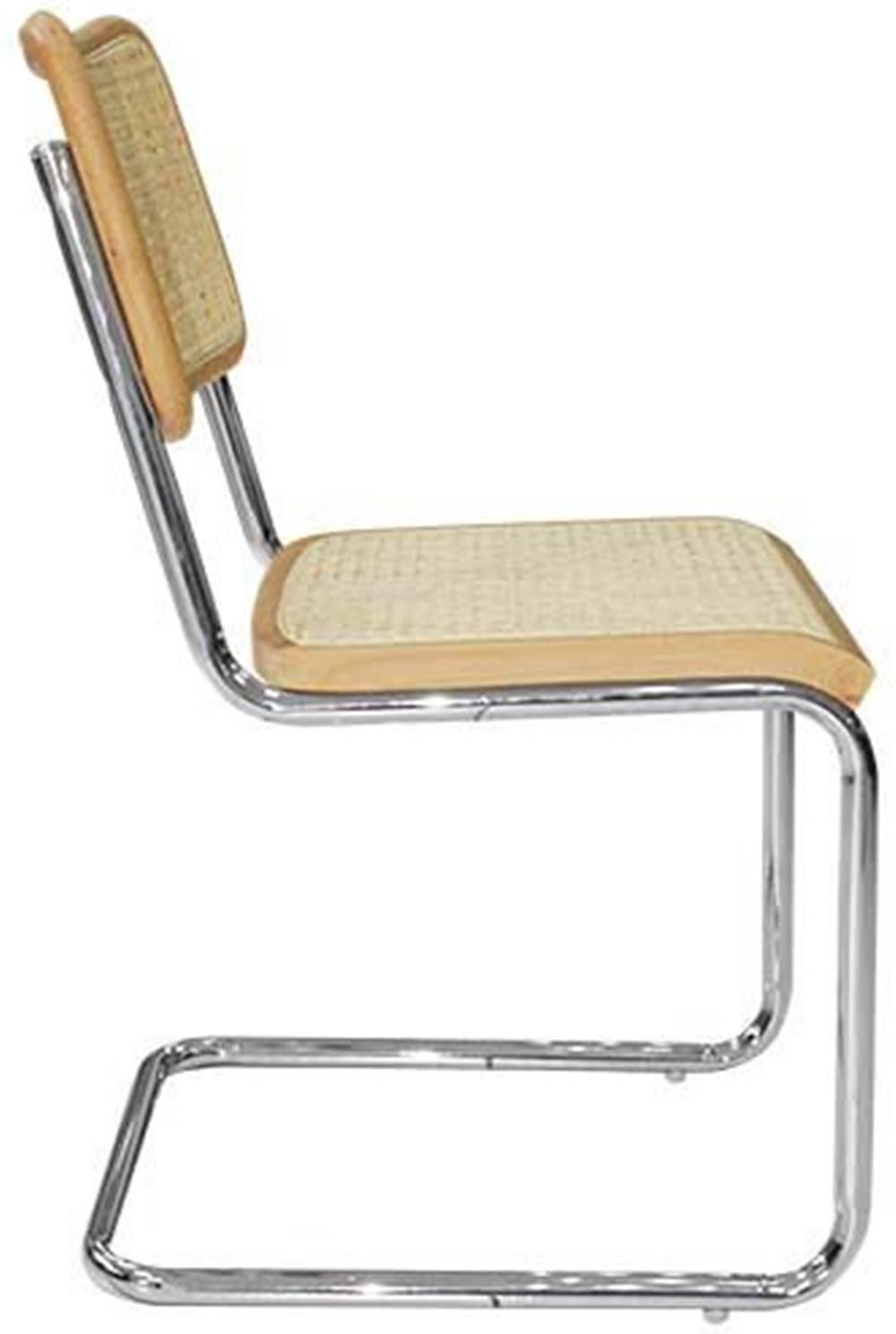Cadeira Cesca Palha Natural Madeira Clara Cromada - 59417