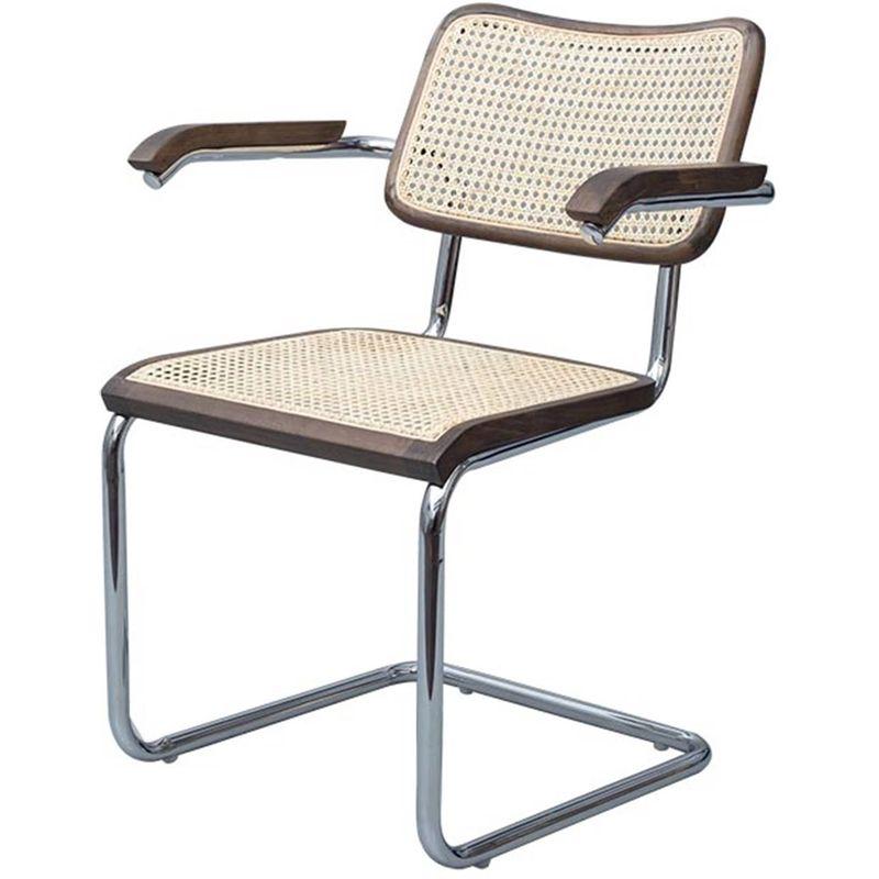 Cadeira-Cesca-Palha-Natural-com-Braco-Madeira-Escura-Cromada---59425-