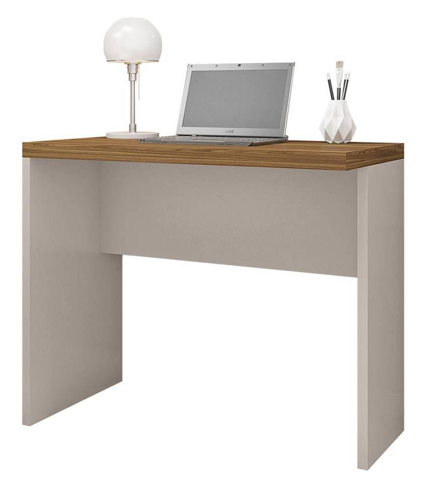 Mesa Office Berruezo Louro Freijo Acabamento Metalic Sued 90cm - 59523