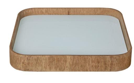 Bandeja de Mesa Lipil Pequena Mel com Vidro 34cm - 53135