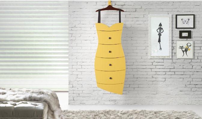 Comoda Dress Acabamento Preto 80cm - 59301