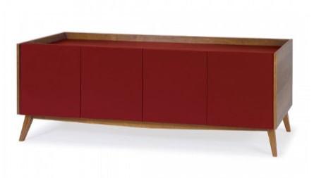 Buffet Novita Acabamento Vinho 180cm - 25330