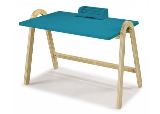Escrivaninha Ringo Tampo Azul 78cm - 35442