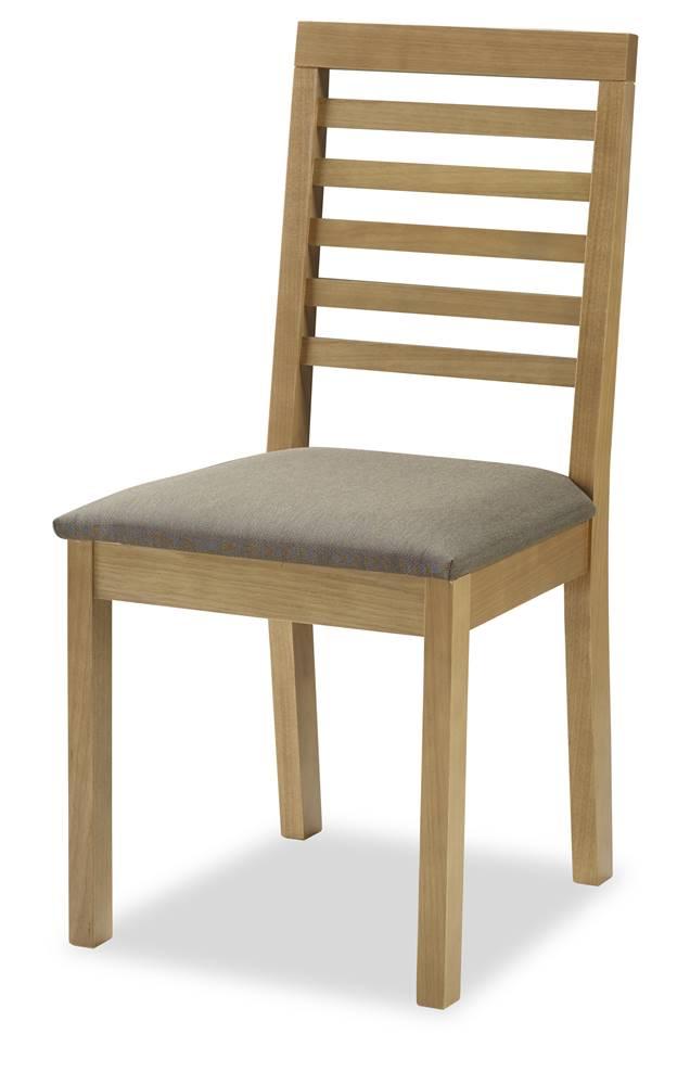 Cadeira Navagio Encosto Ripado Assento Estofado Marrom 90cm - 59605